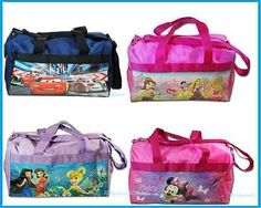 Disney Princess, Cars, Minnie Mouse & Tinkerbell Duffle Bag/Gym Bag/Travel Bag