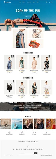 Cogito is a clean, minimal and modern design responsive #Magento #template for stunning fashion store #eCommerce website with 9 different homepage layouts to download & live preview click on image or Visit  #webdevelopment