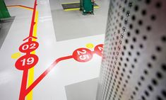 Detail of Floor Graphics, University of Technology, Sydney, BrandCulture Communications #wayfinding #design #signage