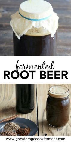 Root Beer Learn how to make delicious homemade fermented root beer. Made with real roots and herb and a ginger bug for fermentation!Learn how to make delicious homemade fermented root beer. Made with real roots and herb and a ginger bug for fermentation! Beer Recipes, Real Food Recipes, Cooking Recipes, Homebrew Recipes, Probiotic Foods, Fermented Foods, Ginger Bug, Fermentation Recipes, Home Brewing Beer