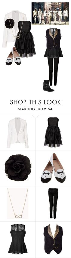 """""""The Chaser (L & Woohyun)"""" by princessmax ❤ liked on Polyvore featuring Witchery, Vero Moda, Forever 21, 7 For All Mankind, DKNY and Dune"""