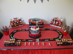 27 Ideas Trucks And Cars Birthday Party Race Tracks For 2019 Hot Wheels Party, Hot Wheels Birthday, Race Car Birthday, Race Car Party, 3rd Birthday, Birthday Ideas, Lightning Mcqueen Party, Disney Cars Party, Disney Cars Birthday