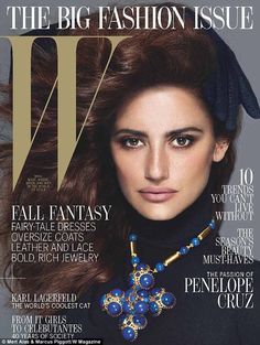 Penelope Cruz covers W Magazine ,Photographed by Mert Alas and Marcus Piggott and styled by Edward Enninful. W Magazine Penelope Cruz, Fashion Cover, Big Fashion, Autumn Fashion, Fashion Pics, Fashion Beauty, Womens Fashion, V Magazine, Magazine Covers