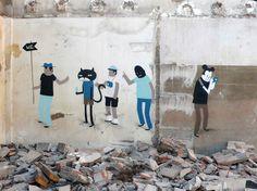 ღღ Characters By Escif - Valenza (Spain) - Street-art and Graffiti | FatCap