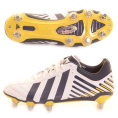 new york 4b3f5 092bd Adidas Adi-Power Kakari Rugby Boot White, Navy and Yellow - £90.00 at