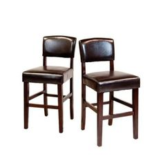 $199.99 The Avalon 24 in. Bar/Counter Stool is a beautiful leather look stool that fits beautifully at the counter of any kitchen or bar. Its elegant classic looks add pizzaz to your home. This solid wood stool has web seat suspension and a padded chair back for extra comfort.