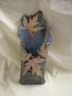 Pam Kohler Camp Wall Pocket with leaf impressions