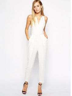 1881e09f2c27 Whistles Abigail Crepe Jumpsuit in Ivory     Shopping Wedding Jumpsuit