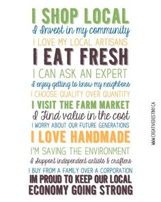 Why you should Shop Local!