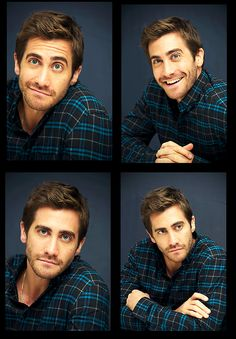 Jake Gyllenhaal ♥ I love a man who makes goofy faces wearing plaid! I'll just have him to go...he is on the menu, right?