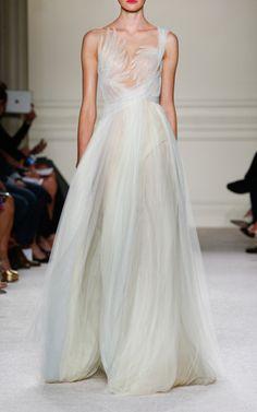 Hand Draped Grecian Gown by MARCHESA for Preorder on Moda Operandi