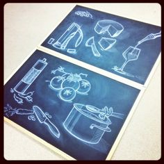 Chalkboard Sketching by: Stefano Di Lollo for the Trudeau Corporation