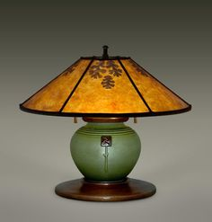Mica Lamp Shades | Arts and Crafts Lighting | Bungalow Desk Lamps | Ephraim Pottery | The William Morris Studio