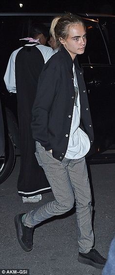 Girls' night out: Rihanna went out with Cara Delevingne for a night out on the town following her evening performance