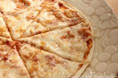 Thin and Crispy Tortilla Pizza by MommyNamedApril, via Flickr