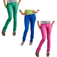 Red Rivet Juniors Colored Skinny Jean--A Great Item at a Great Value