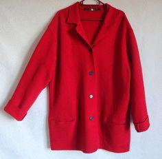 MARIMEKKO Wool Cardigan Cropped Red Cardigan Wool Jacket Marimekko Clothing L XL Size Women's Wool Cardigan Warm Wool Cardigan by Vintageby2sisters on Etsy