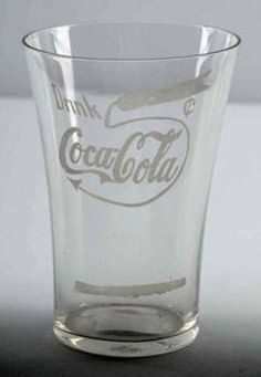 Coke memorabilia is very popular among collectors. Use this guide to identify, value, and determine the price for your Coca-Cola antiques. Coca Cola Glasses, Coca Cola Bottles, Carafe, Coca Cola Merchandise, Coke Drink, Best Soda, Acid Etched Glass, Diet Pepsi, Always Coca Cola