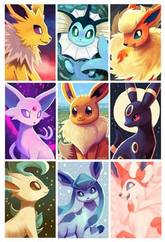 Eeveelution Fan, orcaowlart: All of my eeveelution prints! It… Eeveelution Fan, orcaowlart: All of my eeveelution prints! Pokemon Film, Gif Pokemon, Pokemon Memes, Pokemon Cards, Pokemon Fusion, Pokemon Tattoo, Pokemon Funny, Pokemon Comics, Giratina Pokemon