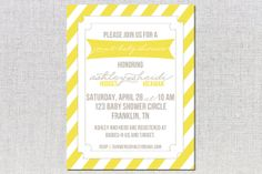 Joint baby shower - Sunshine Party Invitations by haleybragg on Etsy, $18.00