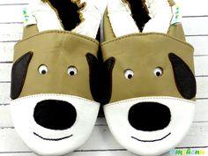 ♥ Hund Charly ♥ Babyschuhe, Größe: 19-20; LB160 von Emchenu ✿ Echt-Leder-Babyschuhe ✿ auf DaWanda.com