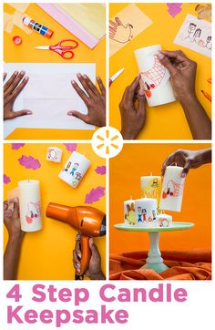 The best crafts are fun, easy and have a personal touch. Try this DIY candles craft to get the whole family involved. It's also a great way to showcase art by the kids!