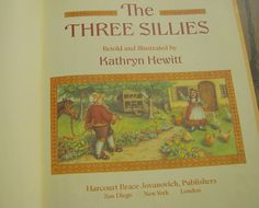 THE THREE SILLIES - Vintage 1986 Children's Story Book