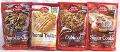 Send a nice gift ! -- Betty Crocker Cookie Mix Variety 4 Pack of 4 Popular Flavors: (1) Chocolate Chip Cookie Mix + (1) Peanut Butter Cookie Mix + (1) Oatmeal Cookie Mix + (1) Sugar Cookie Mix. Bundle of 4- 1 of Each Flavor. Each Mix Makes 30+ Cookies. Great Care Package Betty Crocker http://www.amazon.com/dp/B00QQZTTN2/ref=cm_sw_r_pi_dp_3OXAvb141317X
