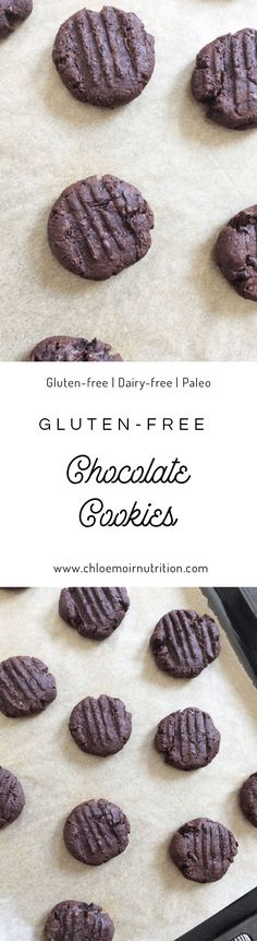 Chocolate cookies that are easy and delicious. Vegetarian | Gluten Free | Dairy-free | Paleo | Recipe | Breakfast | Healthy
