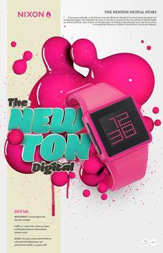 NIXON watches by Aldo Pulella, via Behance