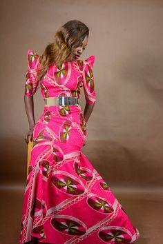 Robe africaine Print Maxi  robe de l'Oma 100 % par FashAfrique