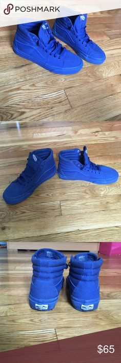 Vans Sk8 Hi skate shoe , true blue limited edition Royal blue high top sneaker…