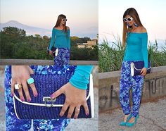 Seawater (by Fabrizia Spinelli) via Lookbook.nu feat. Lotus Mendes White and Turquoise Goddess Rings (http://lookbook.nu/look/3593737-Seawater)