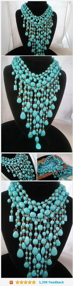 JOAN RIVERS Vintage Aqua Beaded Bib Statement Runway Necklace Lucite Jewelry Designer Fashion Accessories #JOAN #RIVERS Vintage #Aqua #Beaded #Bib #Statement #Runway Necklace Lucite Jewelry Designer Fashion Accessories #jewelry #necklace #bibnecklace #designer #etsyshop #etsy #smallbiz #martini #mermaid #vintageshop https://www.etsy.com/MartiniMermaid/listing/592114846/joan-rivers-vintage-aqua-beaded-bib?ref=listing_published_alert