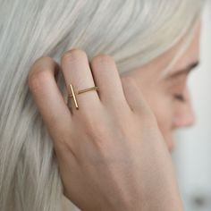 MEJURI LINES STOCKHOLM RING Handcrafted in gold vermeil.