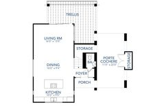 Contemporary Style House Plan - 2 Beds 2.50 Baths 1227 Sq/Ft Plan #80-218 Floor Plan - Main Floor Plan - Houseplans.com