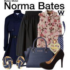 Inspired by Vera Farmiga as Norma Bates on Bates Motel.