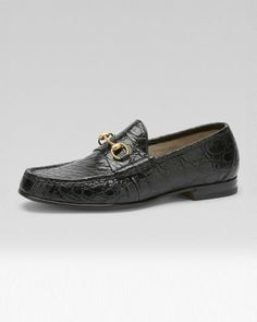 Roos Crocodile Horsebit Loafer by Gucci at Bergdorf Goodman.