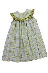 Bailey Boys Lime Plaid Float Dress
