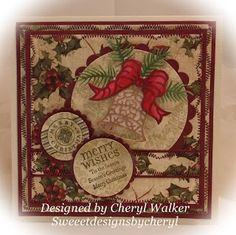 Cheryl Walker: Sweeet Designs By Cheryl for Cottage Cutz - 9/20/13.  (Dies: Elegant Christmas.)  (Pin#1: Dies: Cottage Cutz.  Pin+: Christmas: Bells/...)