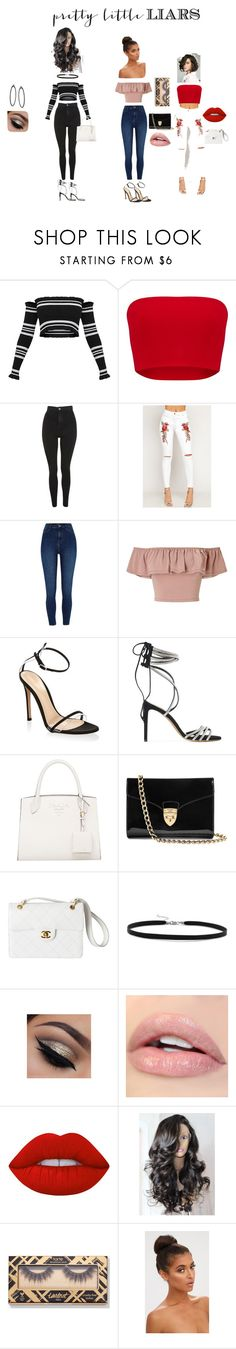 """Pretty Little Liars"" by tatianaalcaraz on Polyvore featuring Topshop, WearAll, River Island, Miss Selfridge, Gianvito Rossi, Alexandre Vauthier, Aspinal of London, Chanel, BillyTheTree and Lime Crime"