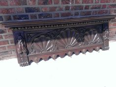 French HUGE art nouveau 1890 Carved wood Coat rack furniture in Antiques, Furniture, Hall Trees & Stands   eBay