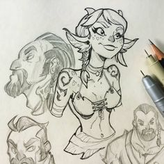 Here are some more warm up sketches from a little while ago, I figured I would post these along with other sketches that have been featured… Sketch Inspiration, Character Design Inspiration, Drawing Skills, Drawing Reference, Human Body Drawing, Line Sketch, Inspirational Artwork, Cool Sketches, Creature Design