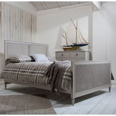 Frank Hudson's Annecy Cane Bed has a classic style rattan headboard and footboard. Rattan is a good choice for a smaller room as it gives a lighter look than a solid bed frame. The bed is hand crafted from solid mahogany with a soft grey finish. Bedroom Sets, Home Bedroom, Bedroom Furniture, Furniture Design, Master Bedroom, Bedroom Decor, Grey Bedding, Luxury Bedding, Bed Weather