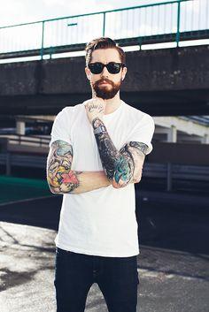 Tattoo Lust: Beards & Tattoos II → more on http://fondalashay.com/blog