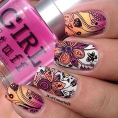 In search for some nail designs and ideas for the nails? Here is our list of 18 must-try coffin acrylic nails for fashionable women. Nail Art Cute, Beautiful Nail Art, Beautiful Nail Designs, Cute Nails, Pretty Nails, Nagel Stamping, Stamping Nail Art, Nail Art Designs, Crazy Nails