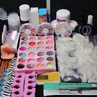DIY Full Nail Art Set Acrylic Glitter Powder Primer Tips Brush Glue Dust Kits 13