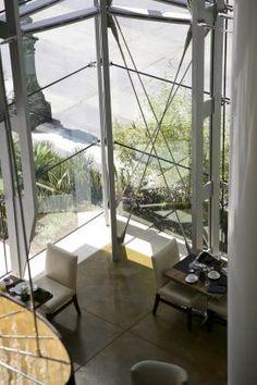 Cabling system for glass curtainwall inside the JW Marriott Hotel Atrium Hotel, Glass Facades, Marriott Hotels, Business Design, Ark, Steel Frame, Engineering, Frames, Walls