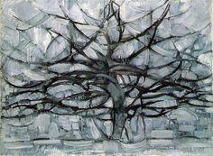 Mondrian, Piet (1872-1944) - 1912 Grey Tree by RasMarley, via Flickr