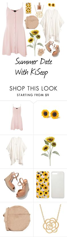 """""""Summer Date"""" by suni-love on Polyvore featuring Topshop, Pier 1 Imports, Schutz, BAGGU, Lord & Taylor, date, Requested and kiseop"""